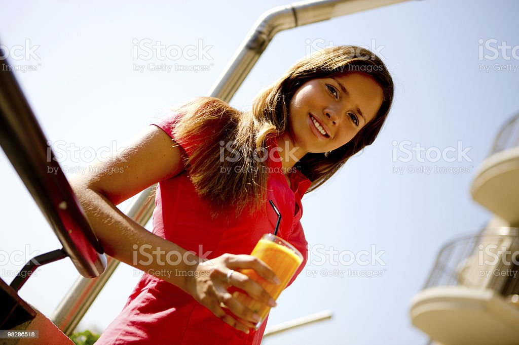 Pretty Young Woman Summer Portrait royalty-free stock photo