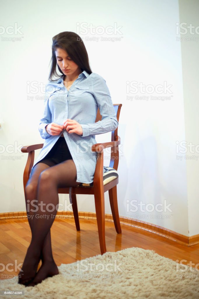 pretty young women getting dressed stock photo amp more