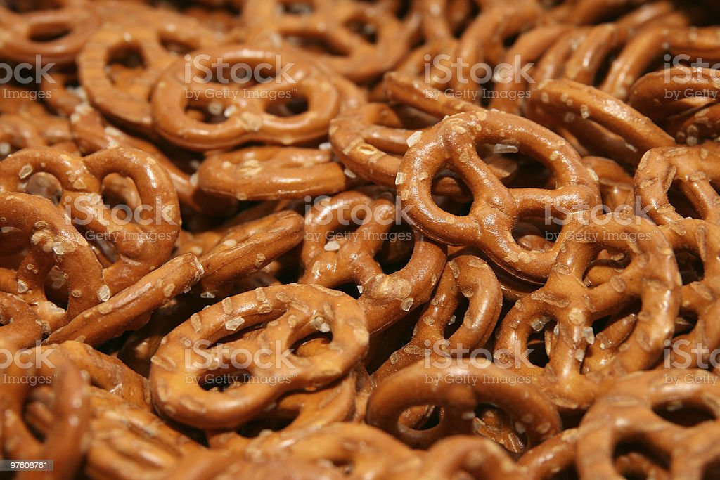 Pretzel background royalty-free stock photo