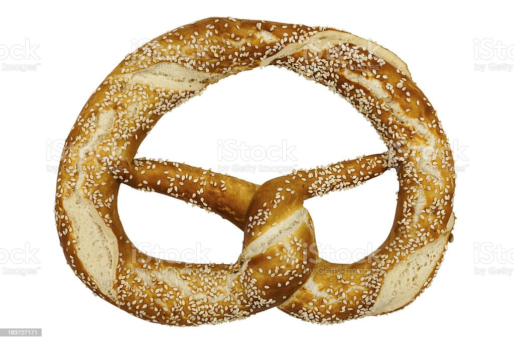 Pretzel include hand made clipping path royalty-free stock photo