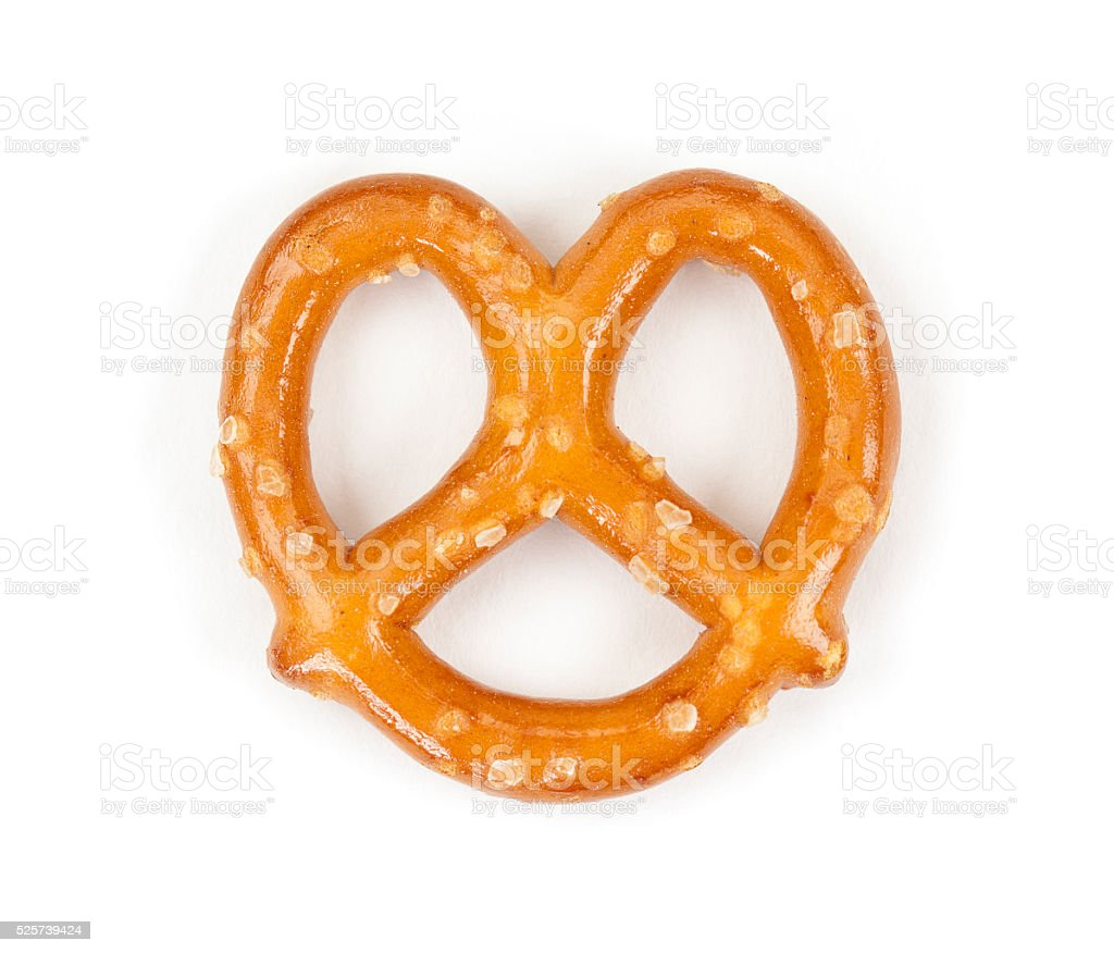 Pretzel Isolated On White stock photo