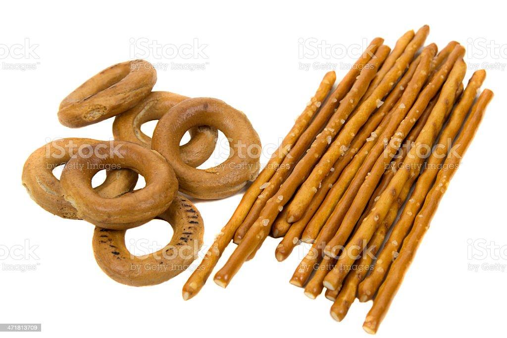 Pretzel snack stock photo