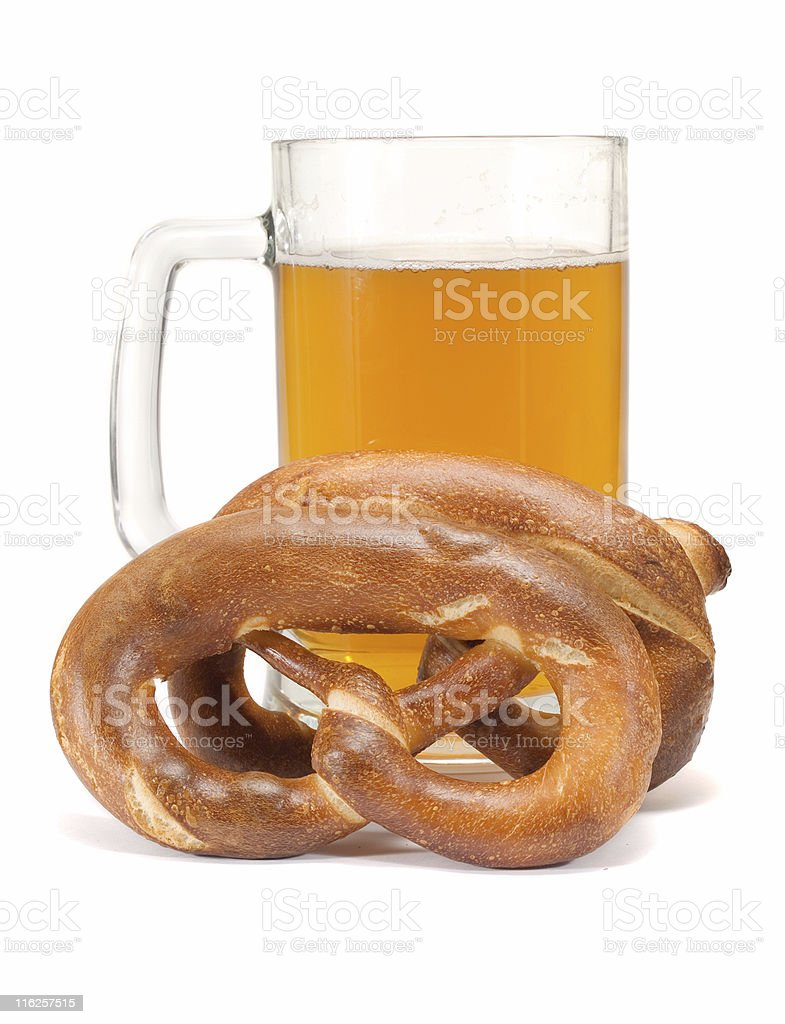 Pretzels And Beer royalty-free stock photo