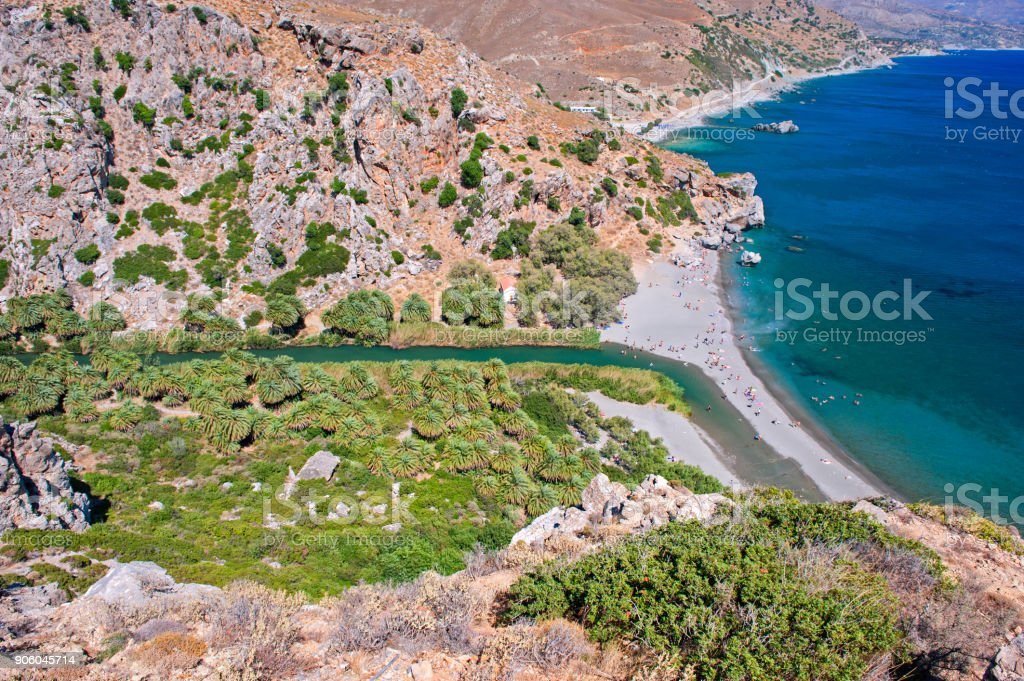 Preveli beach, Crete stock photo