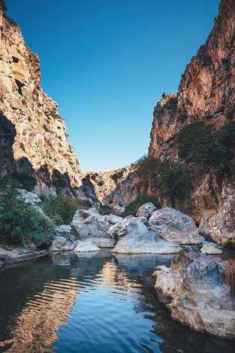 Famous Preveli gorge (South Chania, Crete, Greece).