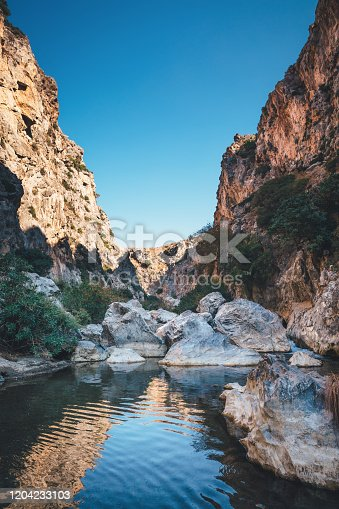 Famous Preveli gorge (South Chania, Crete, Greece).