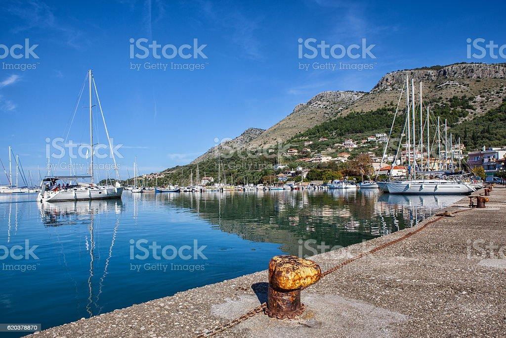 Preveza city Greece zbiór zdjęć royalty-free