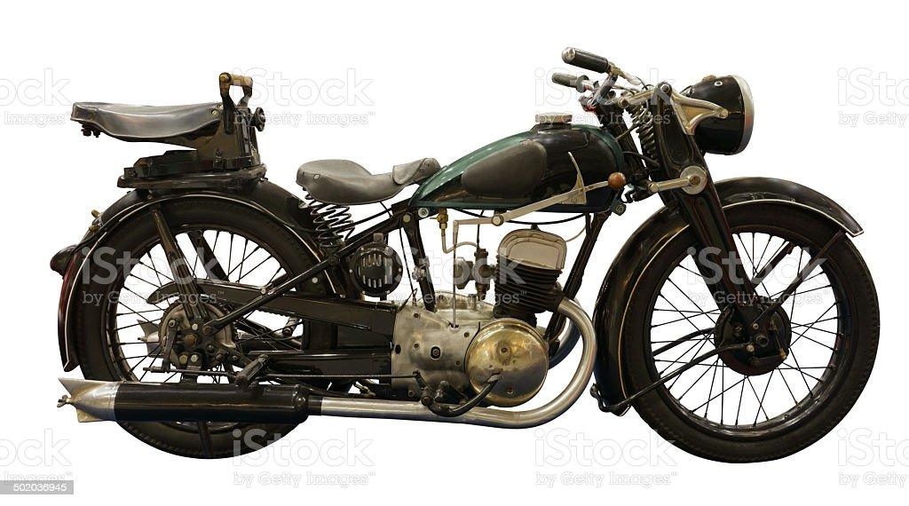 Prewar Motorcycle stock photo