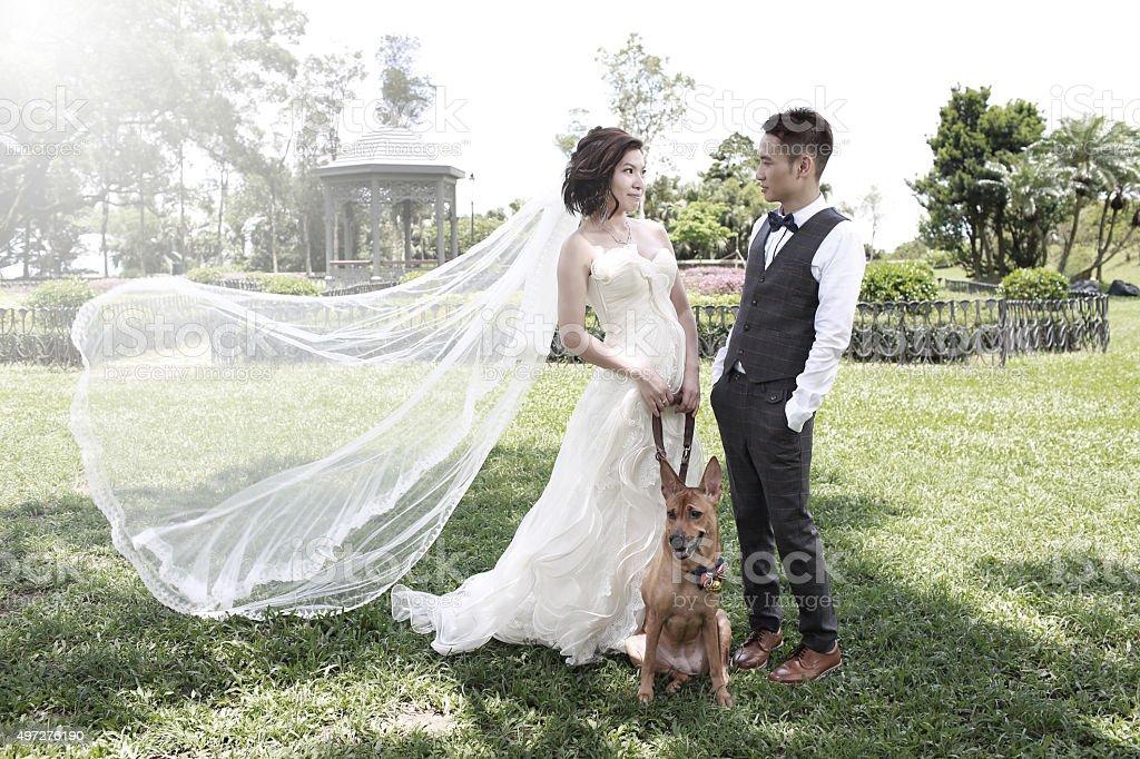 prewedding couple stock photo