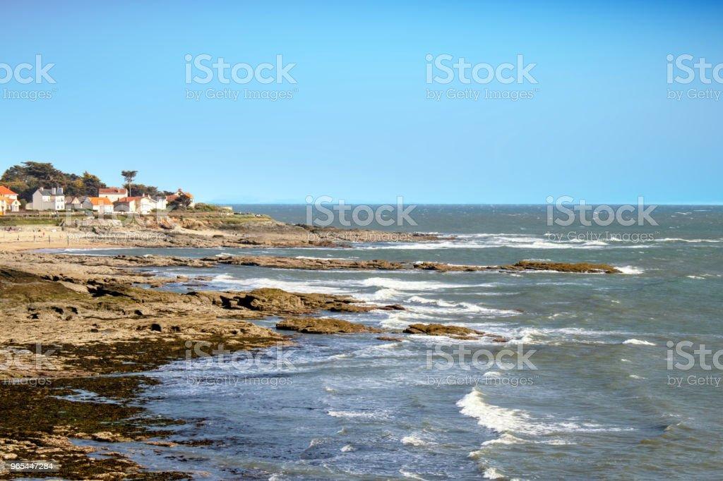 Préfailles. Côte près de la plage de la Raize. Loire Atlantique. Pays de Loire royalty-free stock photo