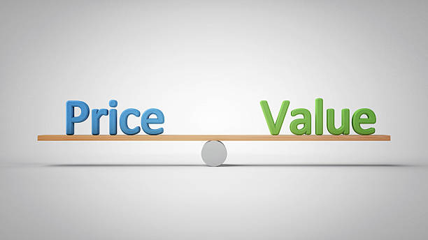 Price and Value - Business Concept Illustration stock photo