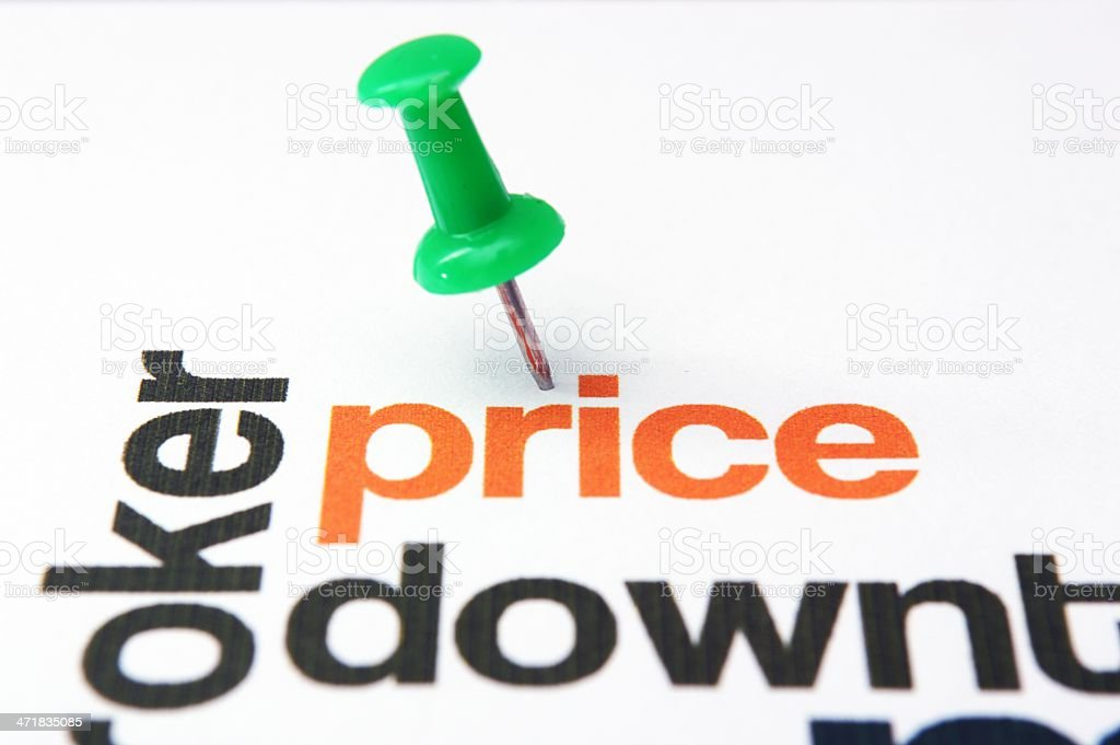 Price down concept stock photo