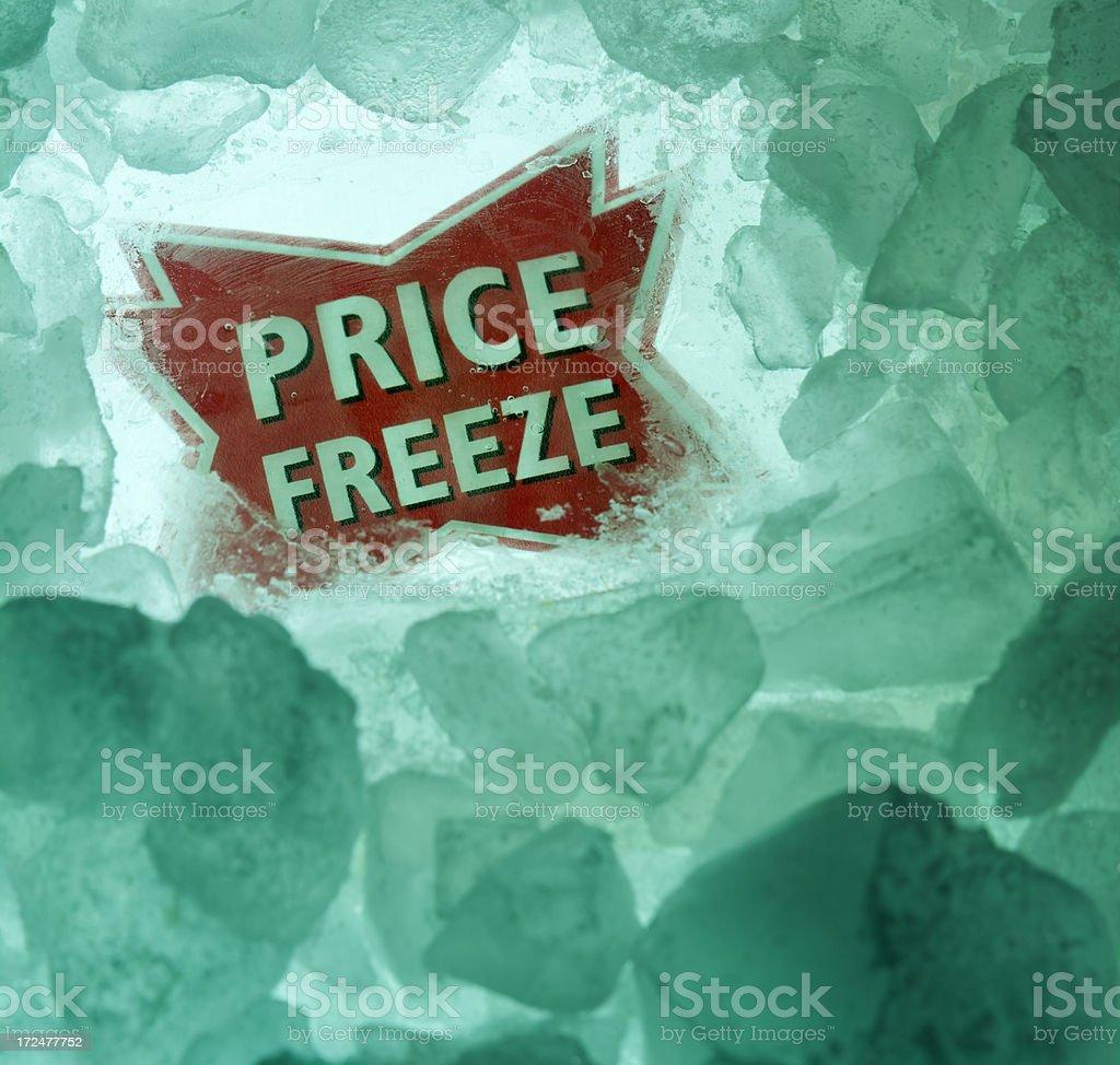 Price Freeze stock photo