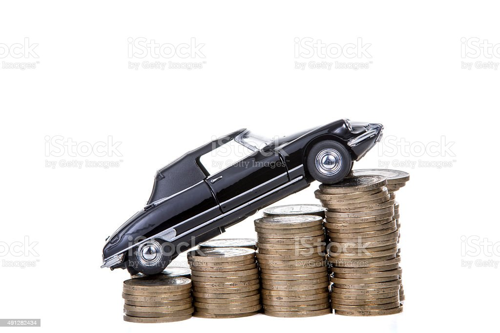 Price increase of car. stock photo