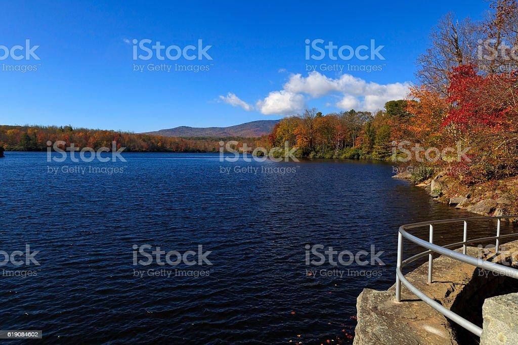Price Lake on the Blue Ridge Parkway stock photo