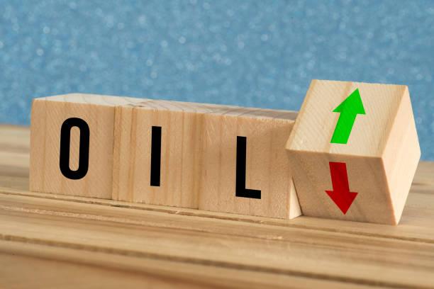 Price of crude oil on the stock exchange stock photo