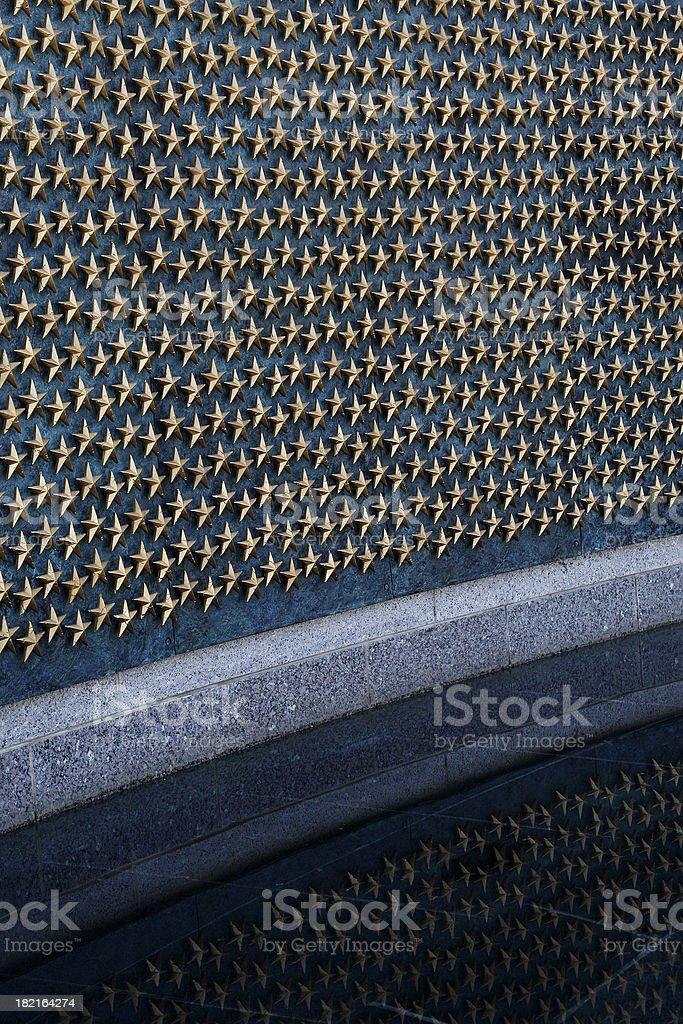 Price of War - WW II Memorial Stars stock photo