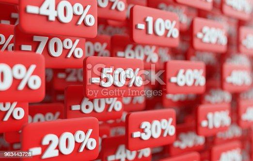 istock price reduction 3D render illustration 963443728