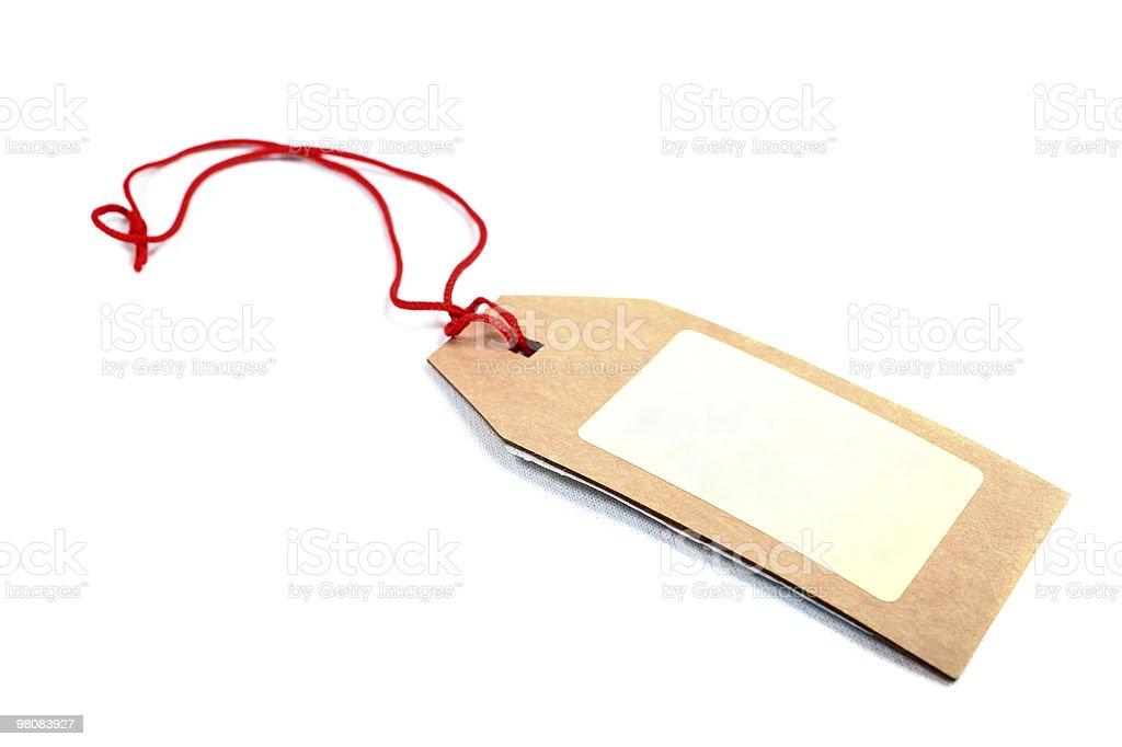 Prezzo tag isolato su sfondo bianco. foto stock royalty-free