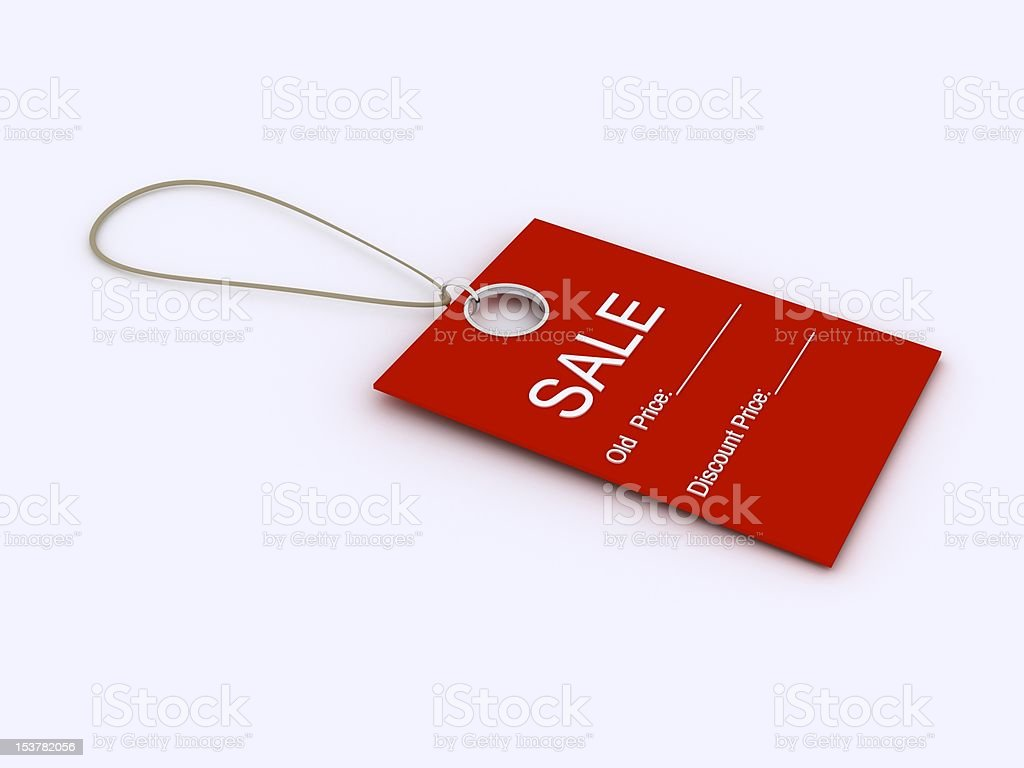 Price tag royalty-free stock photo