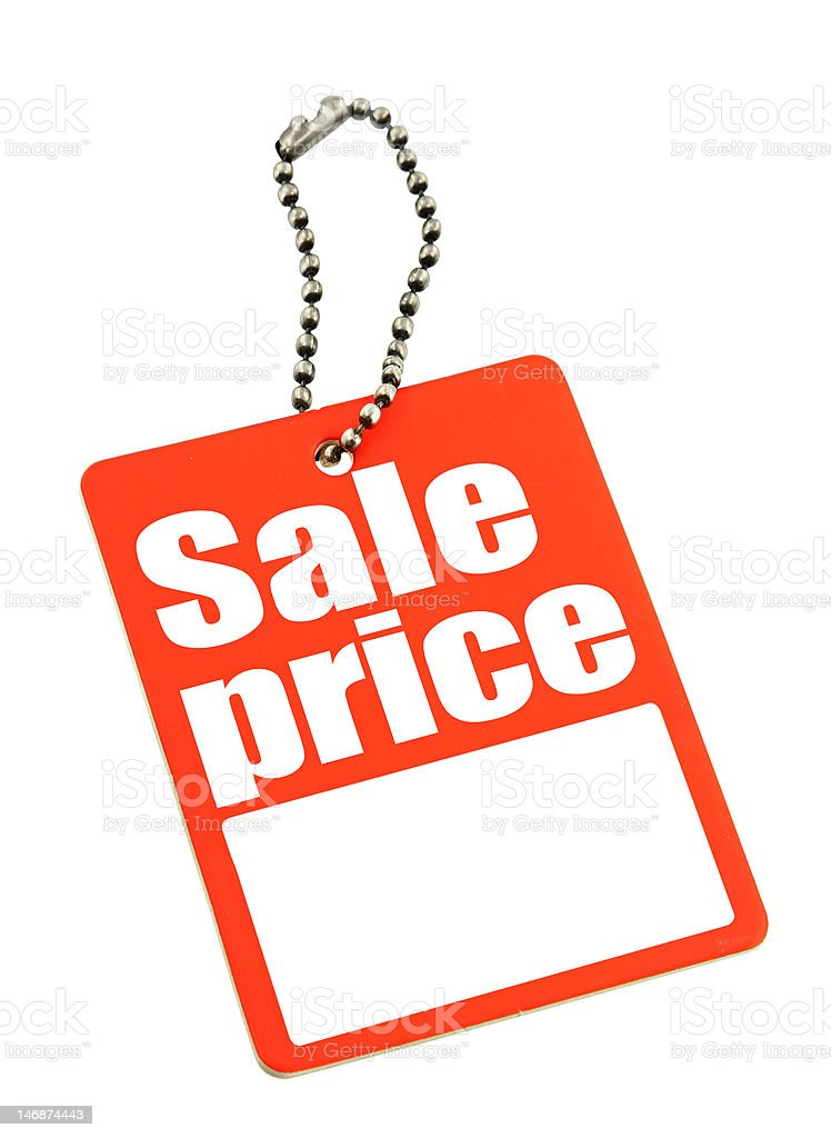 price tag with copy space royalty-free stock photo