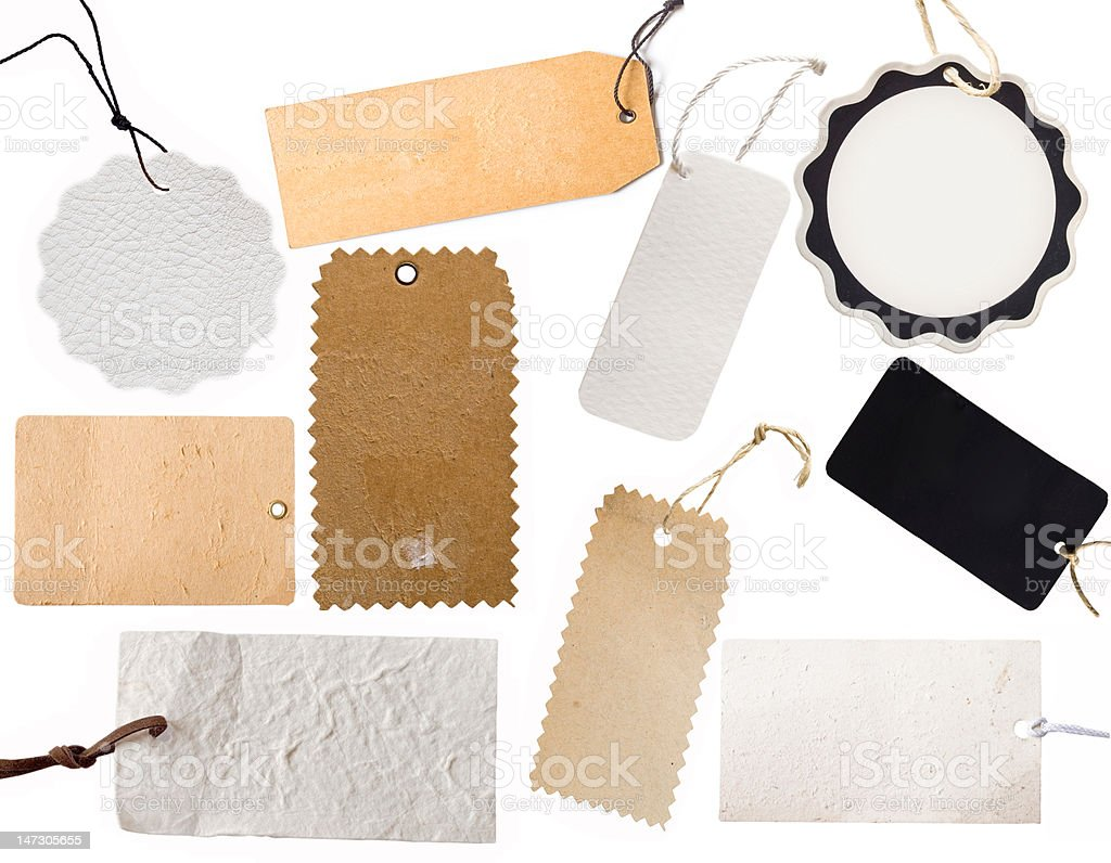 price tags or address labels stock photo