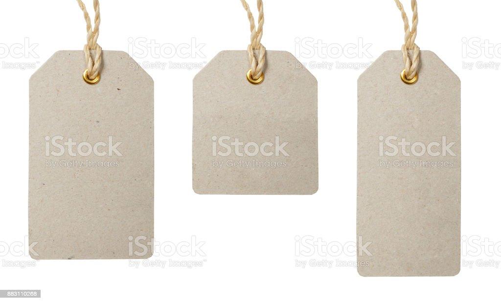 Price tags set on white background stock photo