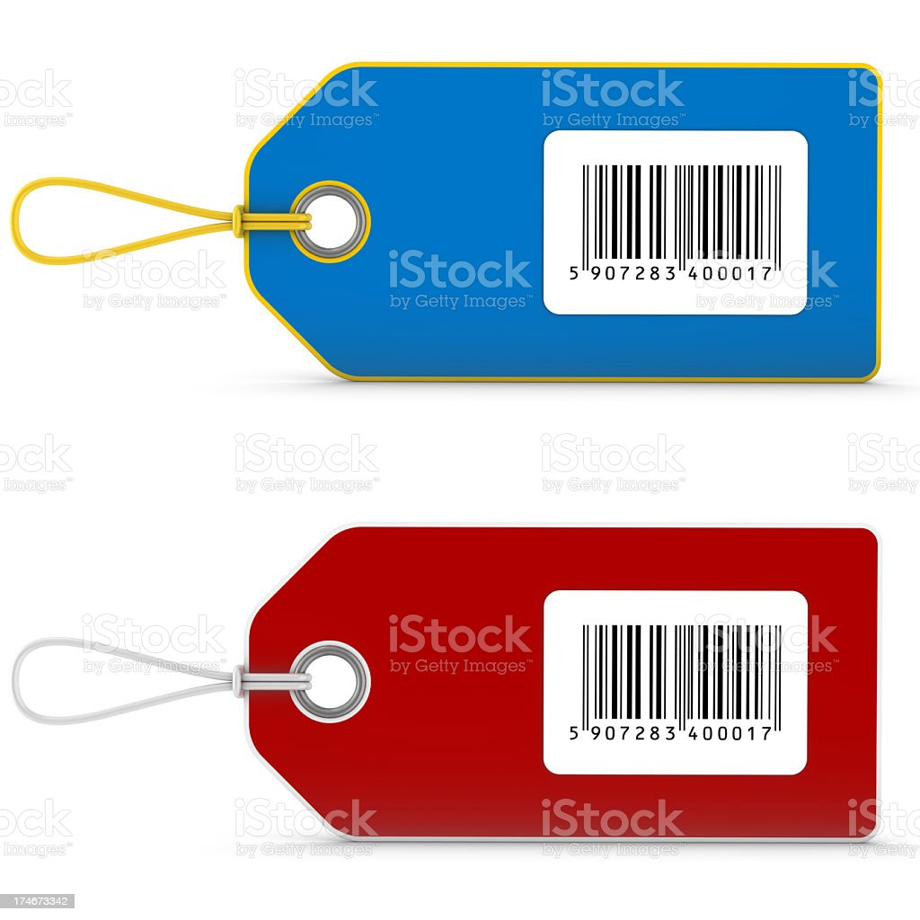 price tags with bar code royalty-free stock photo
