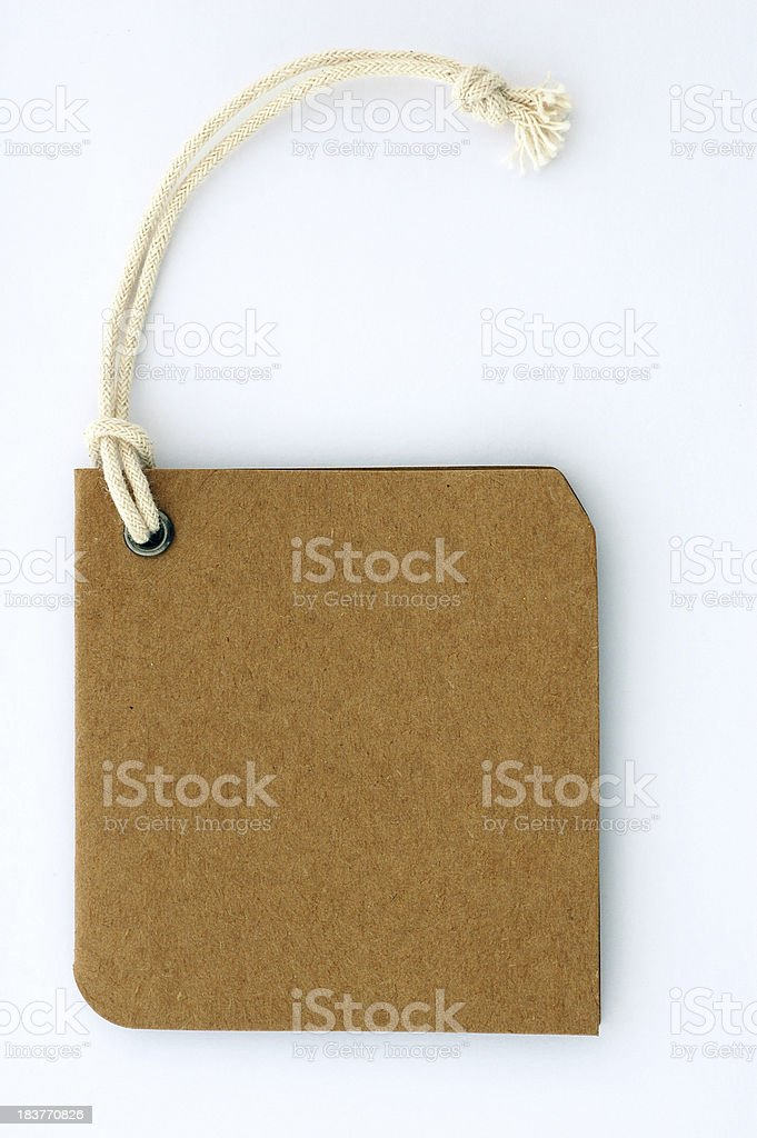 Price Tag,Sales, Label,Cardboard,white String(Clipping Path) stock photo