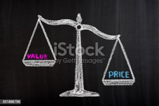 istock Price Value Scale Concept 531866756