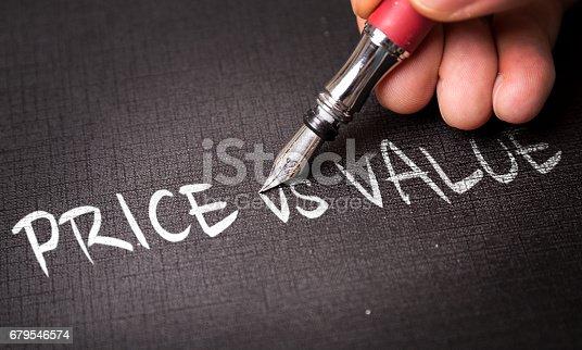 istock Price vs Value 679546574