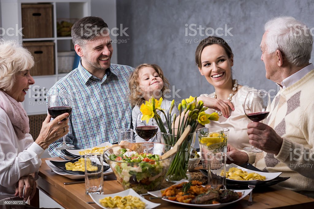 Priceless moments with family... stock photo
