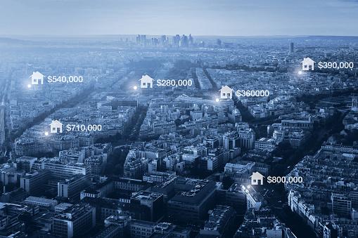 Preise Für Immobilien In Der Stadt Konzept Stockfoto und mehr Bilder von Abstrakt