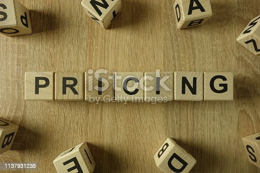 istock Pricing word from wooden blocks 1137931235