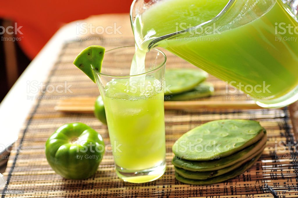Prickly Pear Cactus Drink stock photo