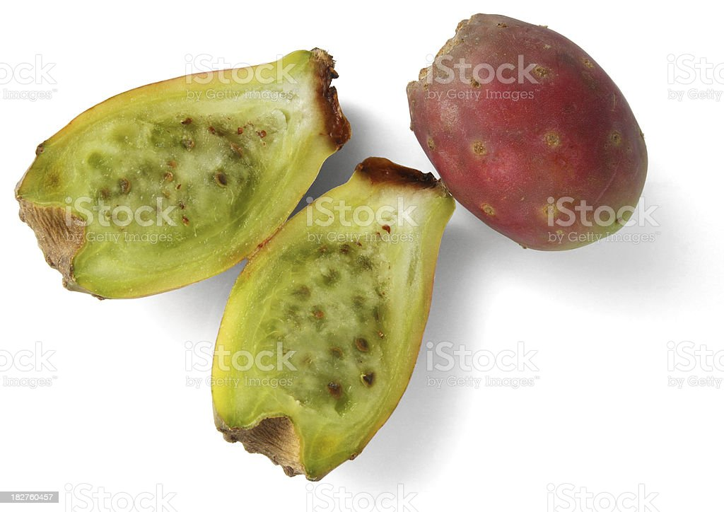 Prickly Pear Cactus Fruit Isolated royalty-free stock photo