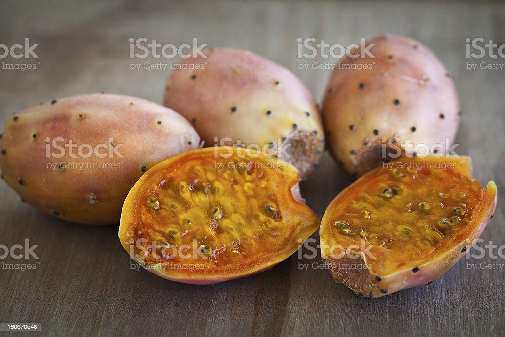 Prickly Pear Cactus Fruit stock photo