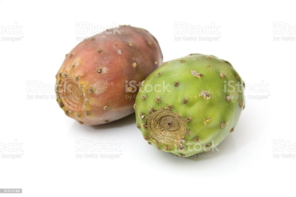 Prickly Pears isolated on a white background. royalty-free stock photo