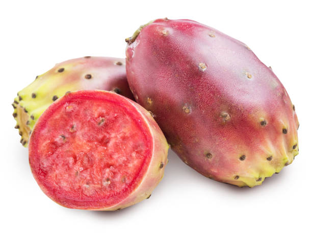 Prickly pears or opuntia fruits. stock photo
