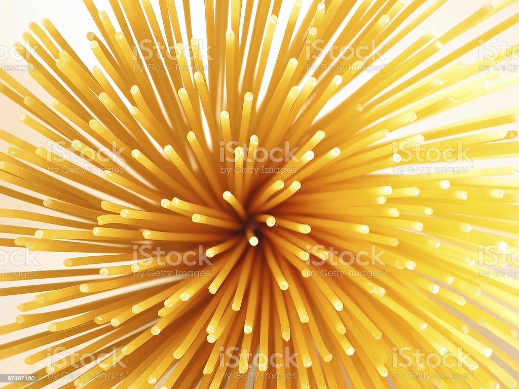 prickly spaghetti royalty-free stock photo