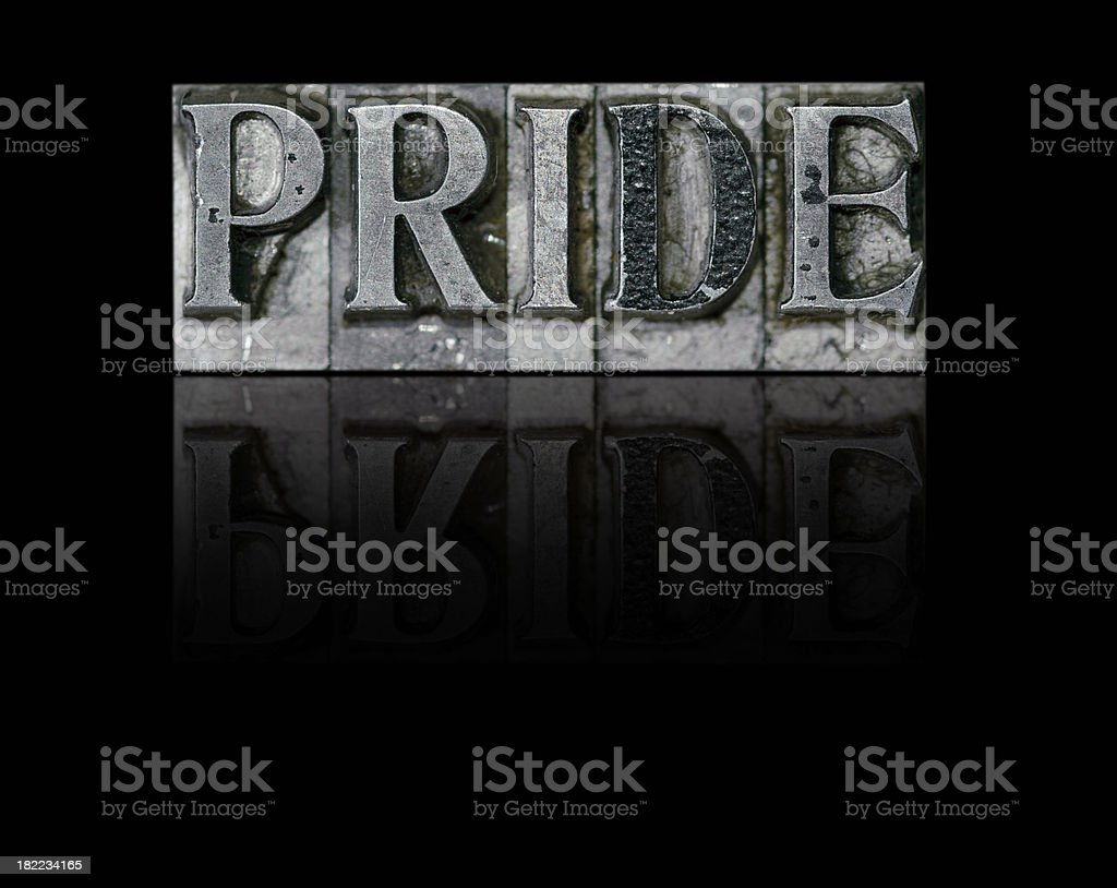 Pride; a Deadly Sin royalty-free stock photo