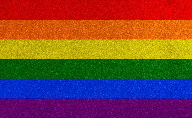 LGBTQIA+ Pride Flag Glitter Texture stock photo