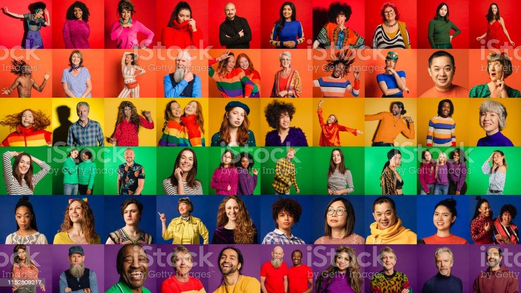 Pride Flag Montage - Zbiór zdjęć royalty-free (Afro)