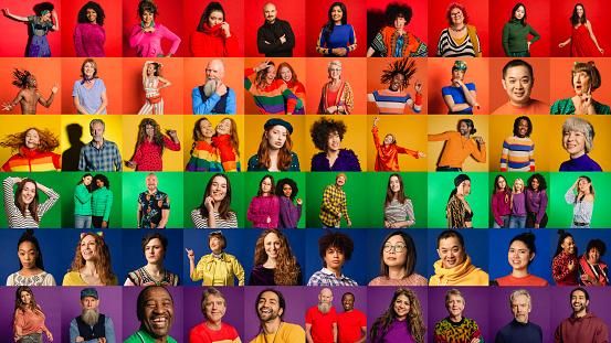 Pride Flag Montage - zdjęcia stockowe i więcej obrazów Afro