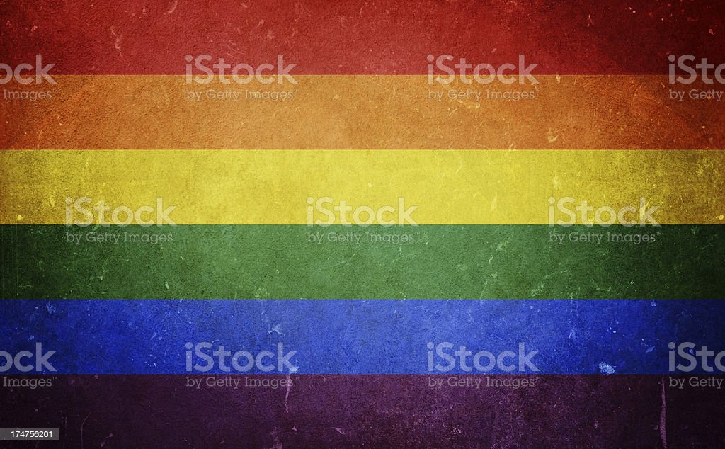 LGBTQ Pride Flag stock photo