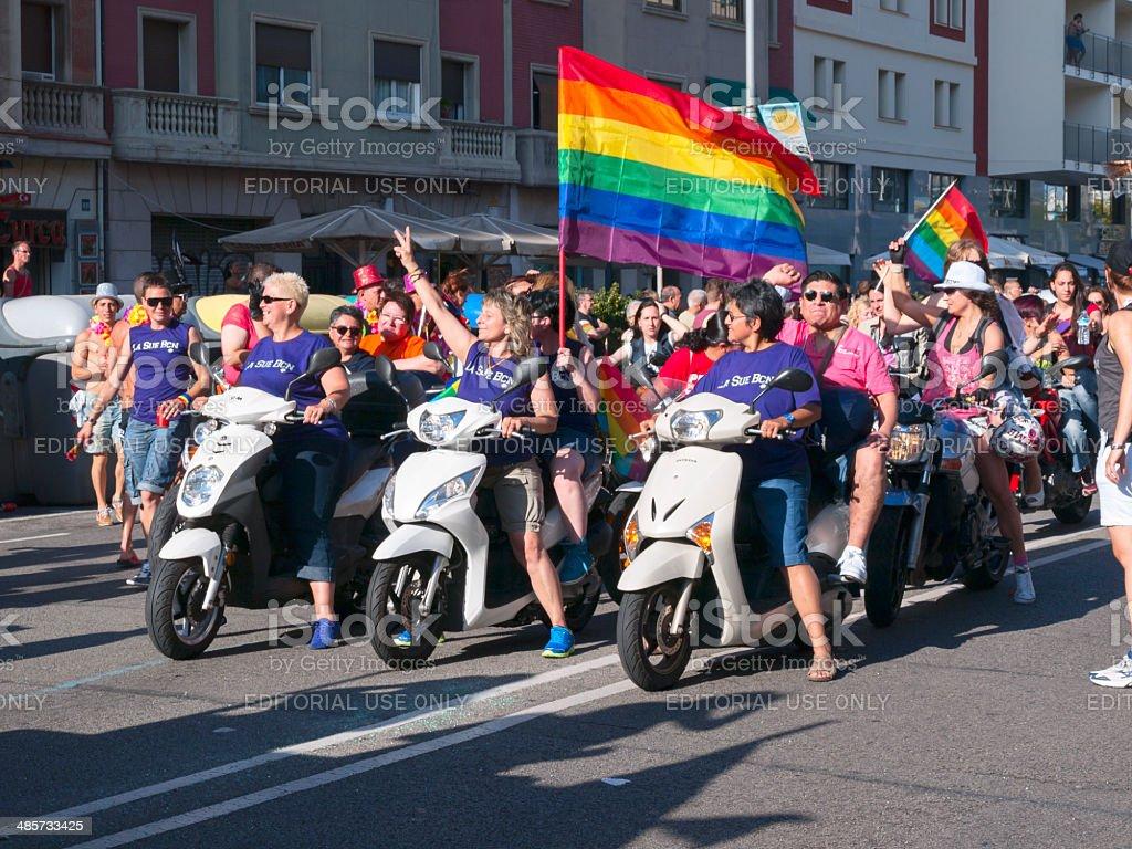 Pride Parade 2013 in Barcelona, Spain royalty-free stock photo