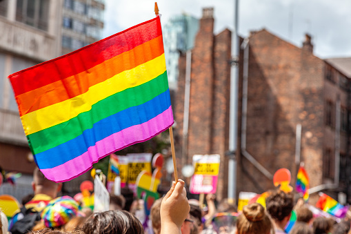 Pride Parade Flags Stock Photo - Download Image Now