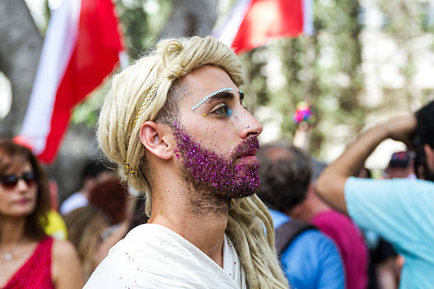 pride parade in tel aviv 2016 . - transsexual stock photos and pictures