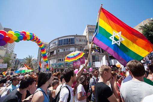 Pride Parade In Tel Aviv Israel Stock Photo - Download Image Now