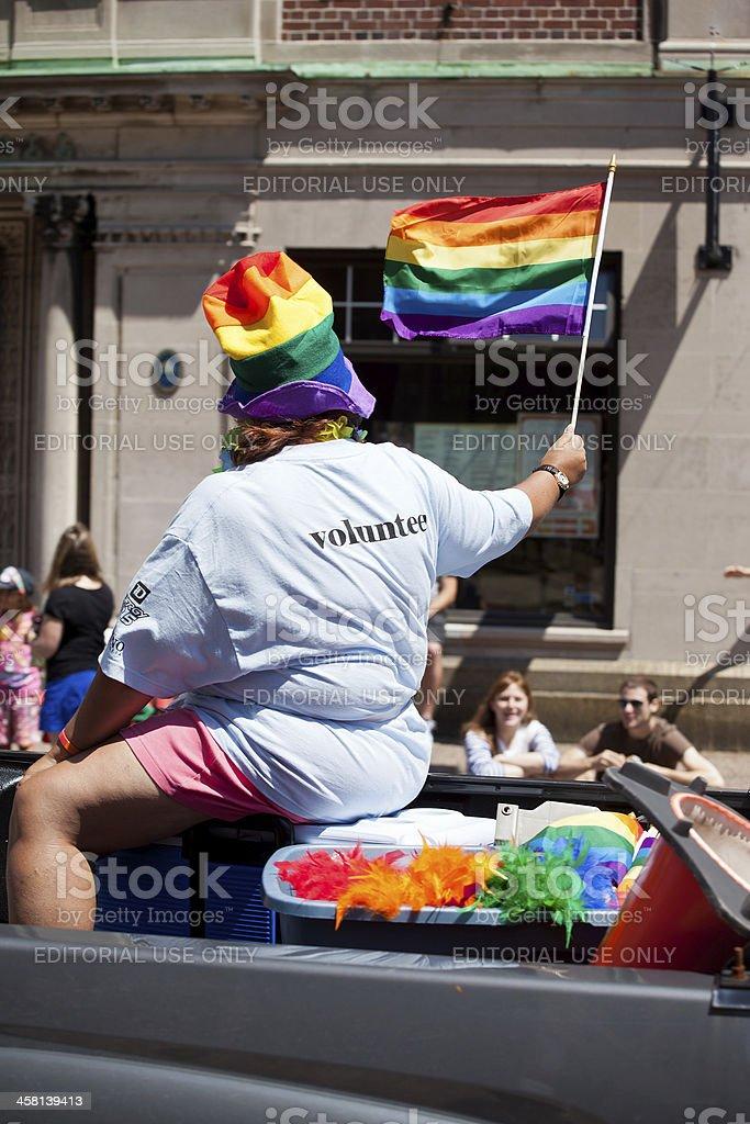 Pride Parade Volunteer royalty-free stock photo